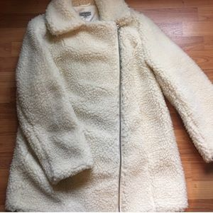 Alive & You Faux Shearling Teddy Moto Coat